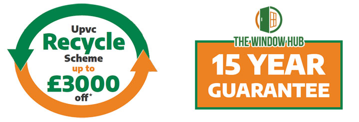 15 year guarantee and recycle scheme on windows and doors