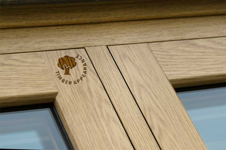 eco flush windows with timber appaerance