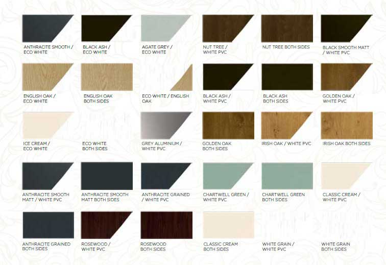 ecoflush windows colour collection
