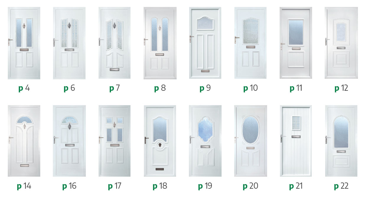 the county panel collection PVCU doors styles